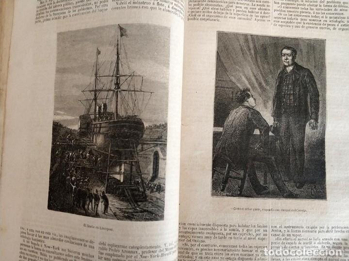 Libros antiguos: tomo con 5 novelas julio verne Veinte mil leguas de viaje submarino 1878 1879 ver mas en descripcion - Foto 10 - 125279427