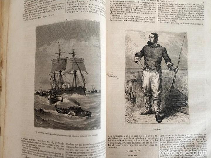 Libros antiguos: tomo con 5 novelas julio verne Veinte mil leguas de viaje submarino 1878 1879 ver mas en descripcion - Foto 11 - 125279427