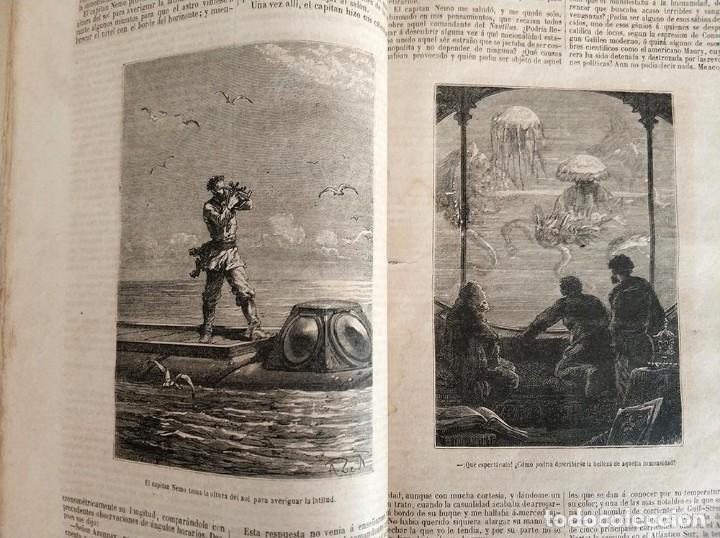 Libros antiguos: tomo con 5 novelas julio verne Veinte mil leguas de viaje submarino 1878 1879 ver mas en descripcion - Foto 12 - 125279427