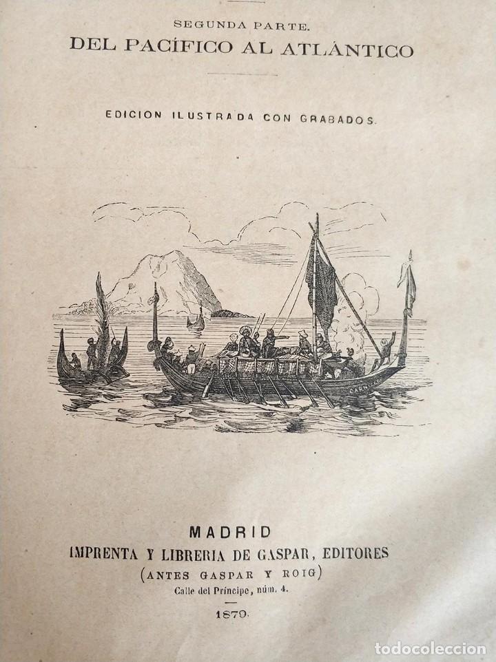 Libros antiguos: tomo con 5 novelas julio verne Veinte mil leguas de viaje submarino 1878 1879 ver mas en descripcion - Foto 14 - 125279427