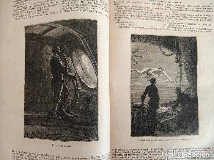 Libros antiguos: tomo con 5 novelas julio verne Veinte mil leguas de viaje submarino 1878 1879 ver mas en descripcion - Foto 15 - 125279427