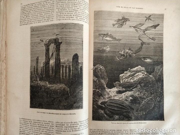Libros antiguos: tomo con 5 novelas julio verne Veinte mil leguas de viaje submarino 1878 1879 ver mas en descripcion - Foto 16 - 125279427