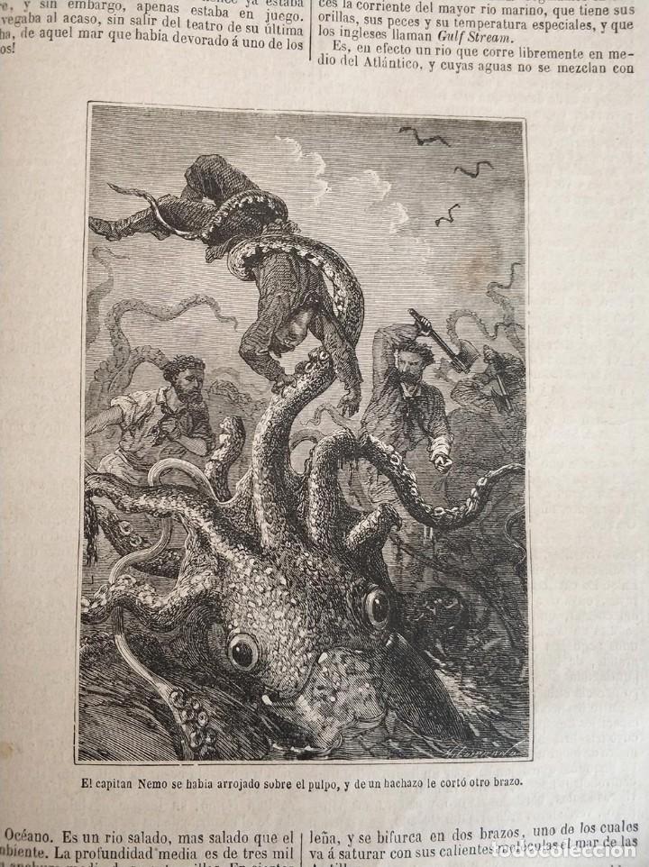 Libros antiguos: tomo con 5 novelas julio verne Veinte mil leguas de viaje submarino 1878 1879 ver mas en descripcion - Foto 17 - 125279427