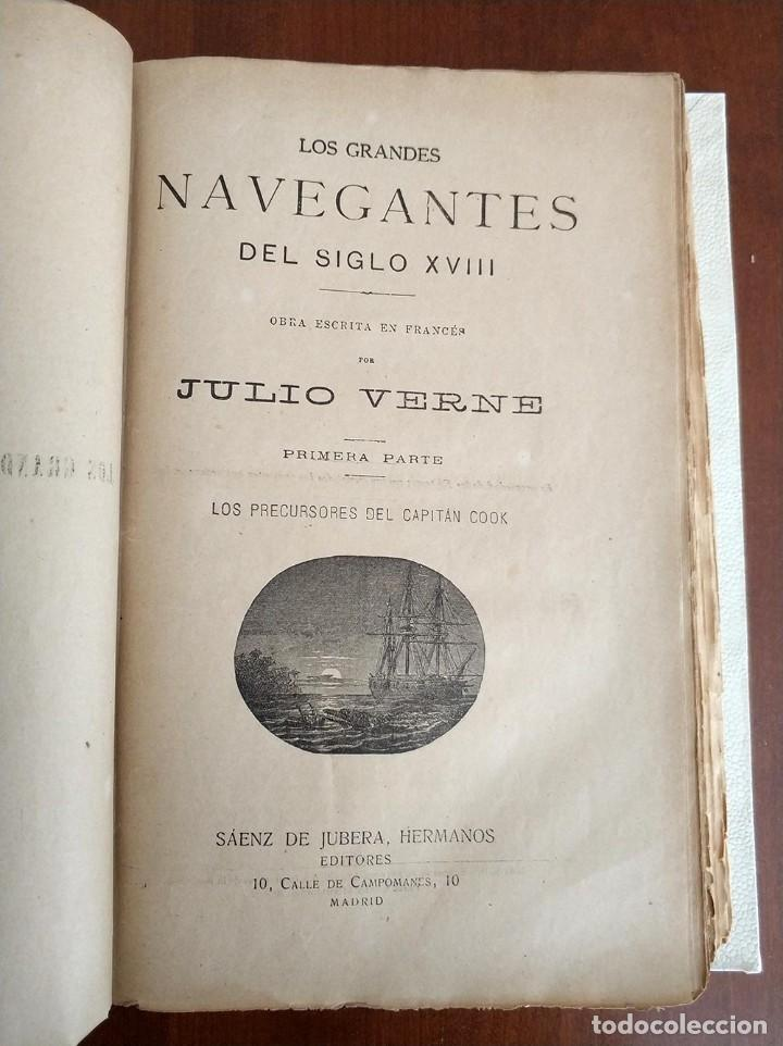 Libros antiguos: tomo con 5 novelas julio verne Veinte mil leguas de viaje submarino 1878 1879 ver mas en descripcion - Foto 18 - 125279427