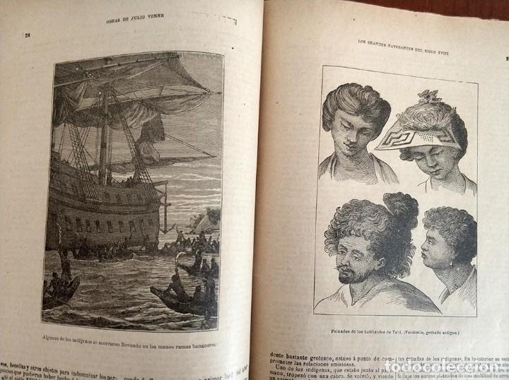 Libros antiguos: tomo con 5 novelas julio verne Veinte mil leguas de viaje submarino 1878 1879 ver mas en descripcion - Foto 20 - 125279427