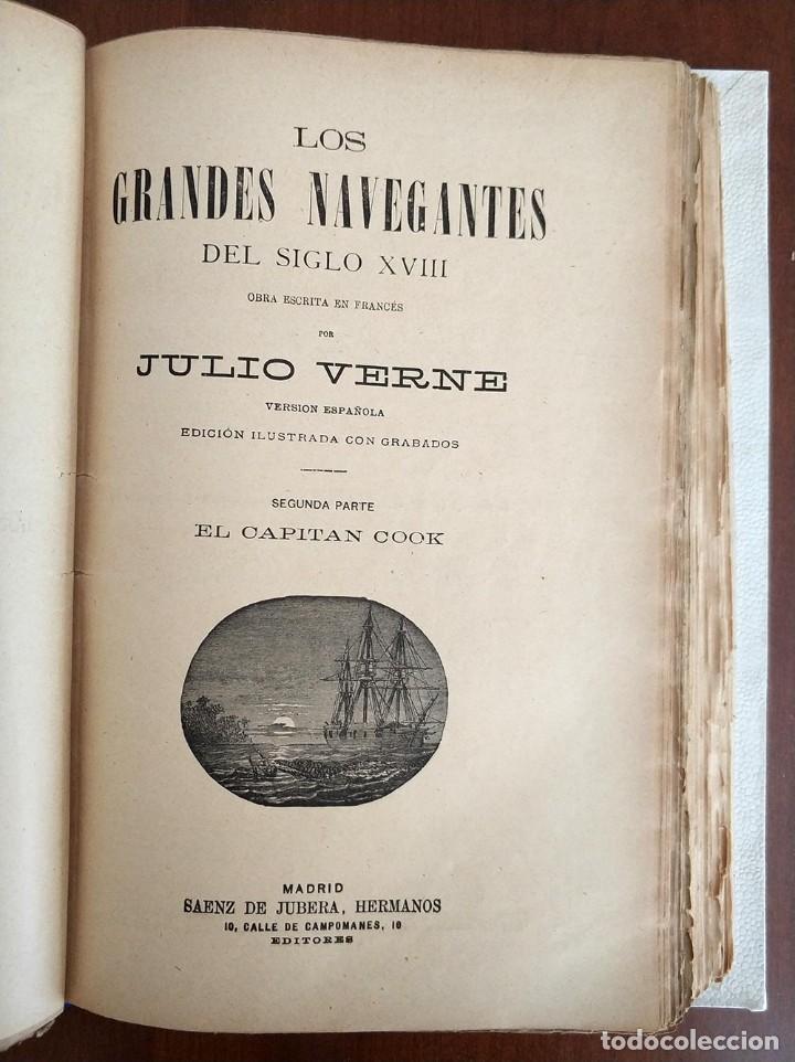 Libros antiguos: tomo con 5 novelas julio verne Veinte mil leguas de viaje submarino 1878 1879 ver mas en descripcion - Foto 21 - 125279427