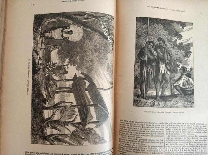Libros antiguos: tomo con 5 novelas julio verne Veinte mil leguas de viaje submarino 1878 1879 ver mas en descripcion - Foto 23 - 125279427