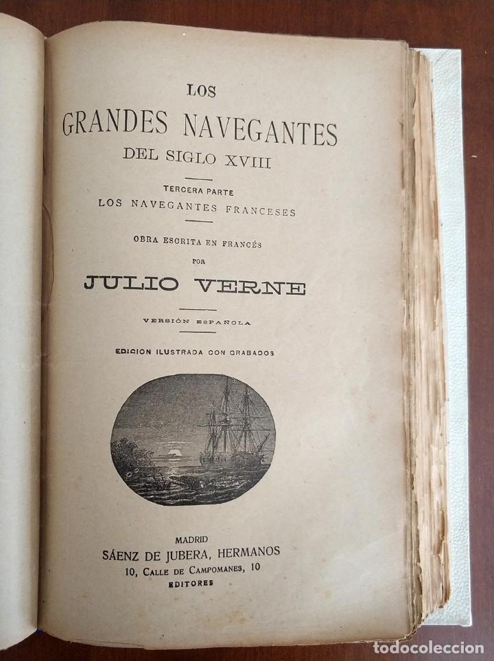Libros antiguos: tomo con 5 novelas julio verne Veinte mil leguas de viaje submarino 1878 1879 ver mas en descripcion - Foto 24 - 125279427