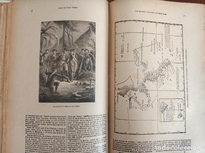 Libros antiguos: tomo con 5 novelas julio verne Veinte mil leguas de viaje submarino 1878 1879 ver mas en descripcion - Foto 26 - 125279427
