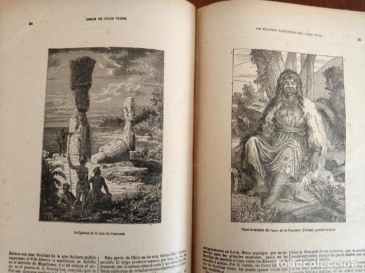 Libros antiguos: tomo con 5 novelas julio verne Veinte mil leguas de viaje submarino 1878 1879 ver mas en descripcion - Foto 27 - 125279427