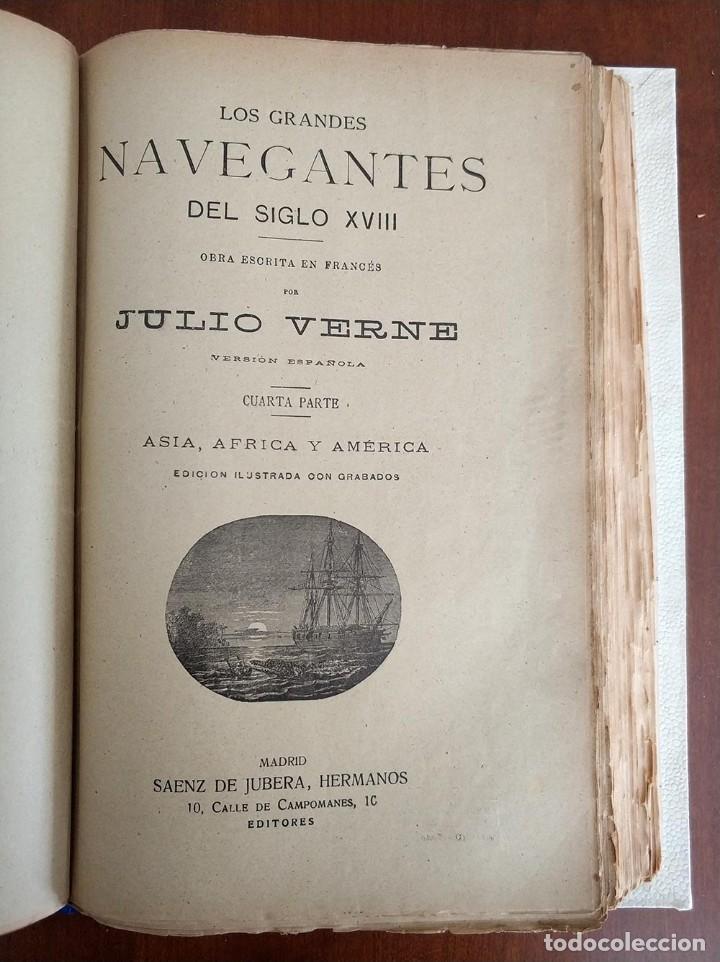 Libros antiguos: tomo con 5 novelas julio verne Veinte mil leguas de viaje submarino 1878 1879 ver mas en descripcion - Foto 28 - 125279427