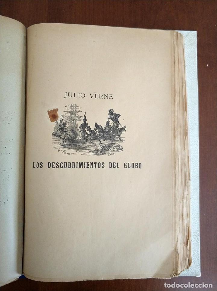 Libros antiguos: tomo con 5 novelas julio verne Veinte mil leguas de viaje submarino 1878 1879 ver mas en descripcion - Foto 32 - 125279427