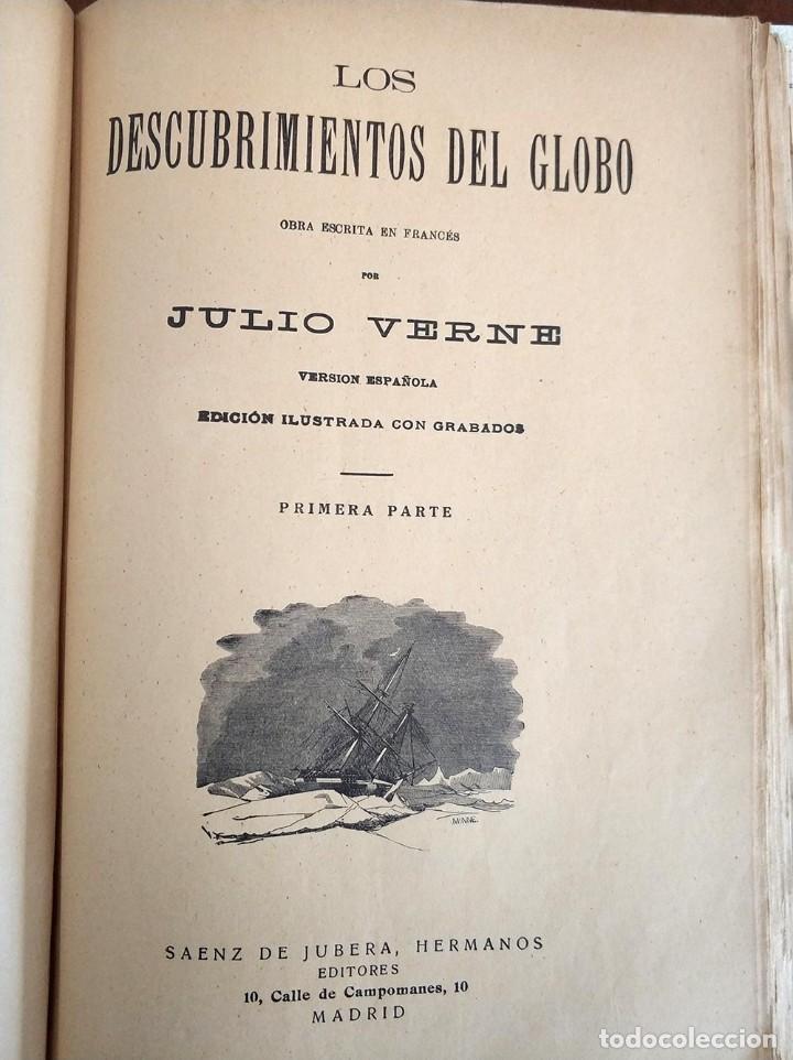 Libros antiguos: tomo con 5 novelas julio verne Veinte mil leguas de viaje submarino 1878 1879 ver mas en descripcion - Foto 33 - 125279427