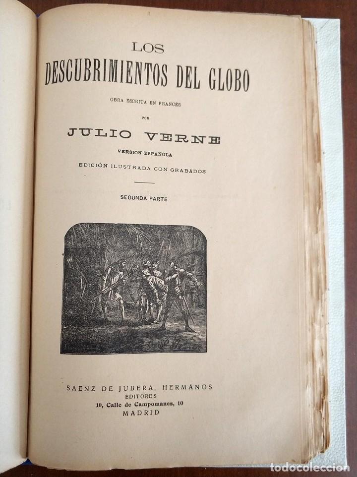 Libros antiguos: tomo con 5 novelas julio verne Veinte mil leguas de viaje submarino 1878 1879 ver mas en descripcion - Foto 36 - 125279427