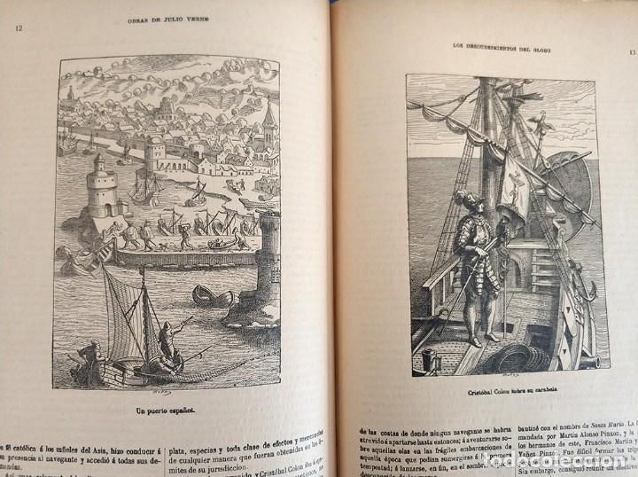 Libros antiguos: tomo con 5 novelas julio verne Veinte mil leguas de viaje submarino 1878 1879 ver mas en descripcion - Foto 37 - 125279427