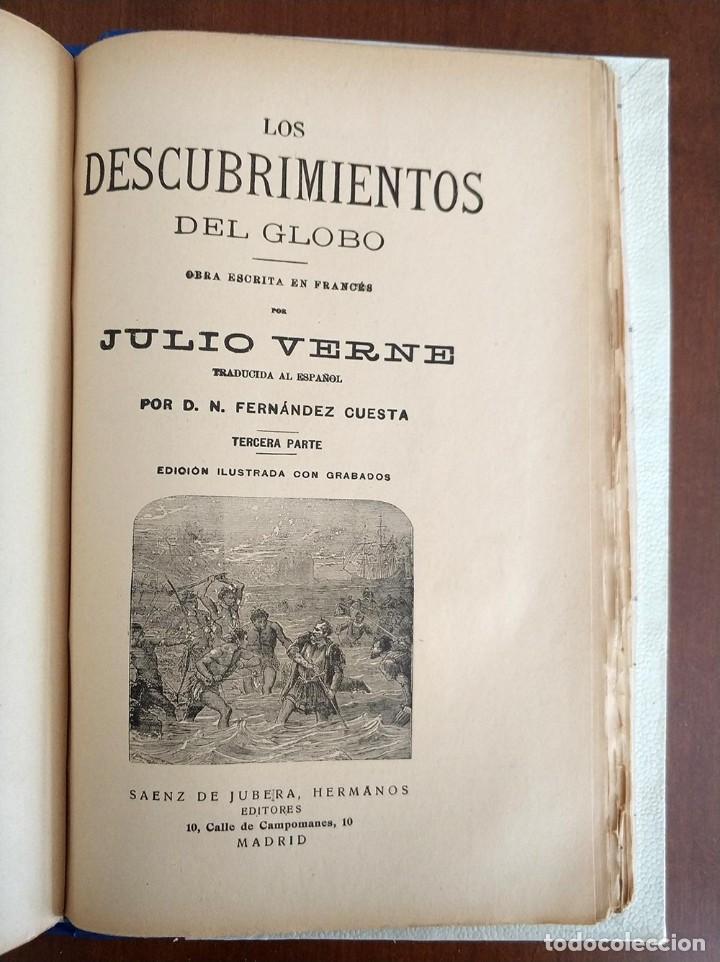 Libros antiguos: tomo con 5 novelas julio verne Veinte mil leguas de viaje submarino 1878 1879 ver mas en descripcion - Foto 39 - 125279427
