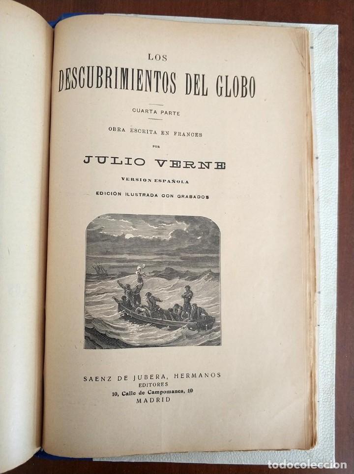 Libros antiguos: tomo con 5 novelas julio verne Veinte mil leguas de viaje submarino 1878 1879 ver mas en descripcion - Foto 42 - 125279427