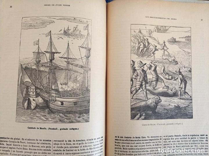 Libros antiguos: tomo con 5 novelas julio verne Veinte mil leguas de viaje submarino 1878 1879 ver mas en descripcion - Foto 44 - 125279427