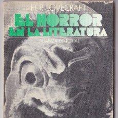 Libros antiguos: EL HORROR EN LA LITERATURA. LOVECRAFT. Lote 125361887