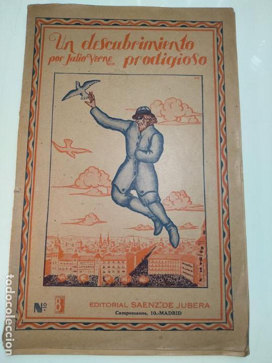 UN DESCUBRIMIENTO ASOMBROSO - JULIO VERNE - EDIC. ILUSTRADA CON GRABADOS - MADRID - (Libros antiguos (hasta 1936), raros y curiosos - Literatura - Narrativa - Ciencia Ficción y Fantasía)