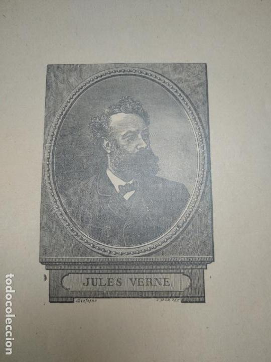 Libros antiguos: UN DESCUBRIMIENTO ASOMBROSO - JULIO VERNE - EDIC. ILUSTRADA CON GRABADOS - MADRID - - Foto 2 - 136763678