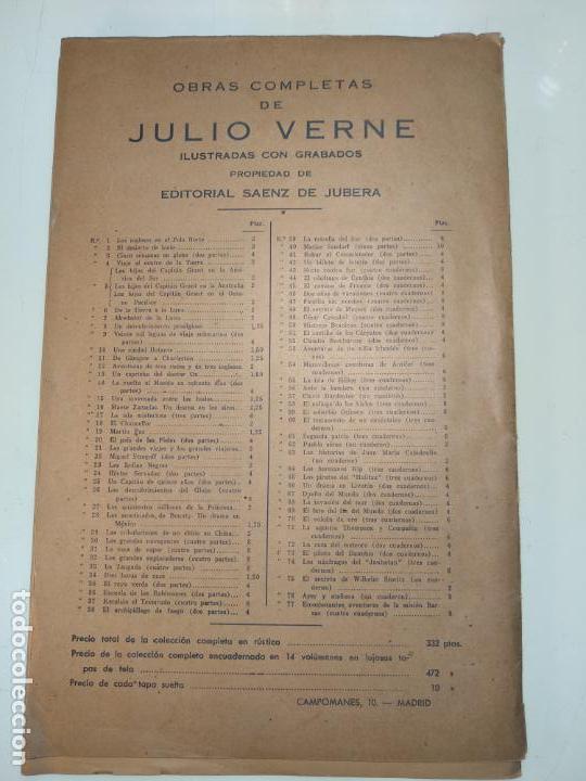 Libros antiguos: UN DESCUBRIMIENTO ASOMBROSO - JULIO VERNE - EDIC. ILUSTRADA CON GRABADOS - MADRID - - Foto 8 - 136763678