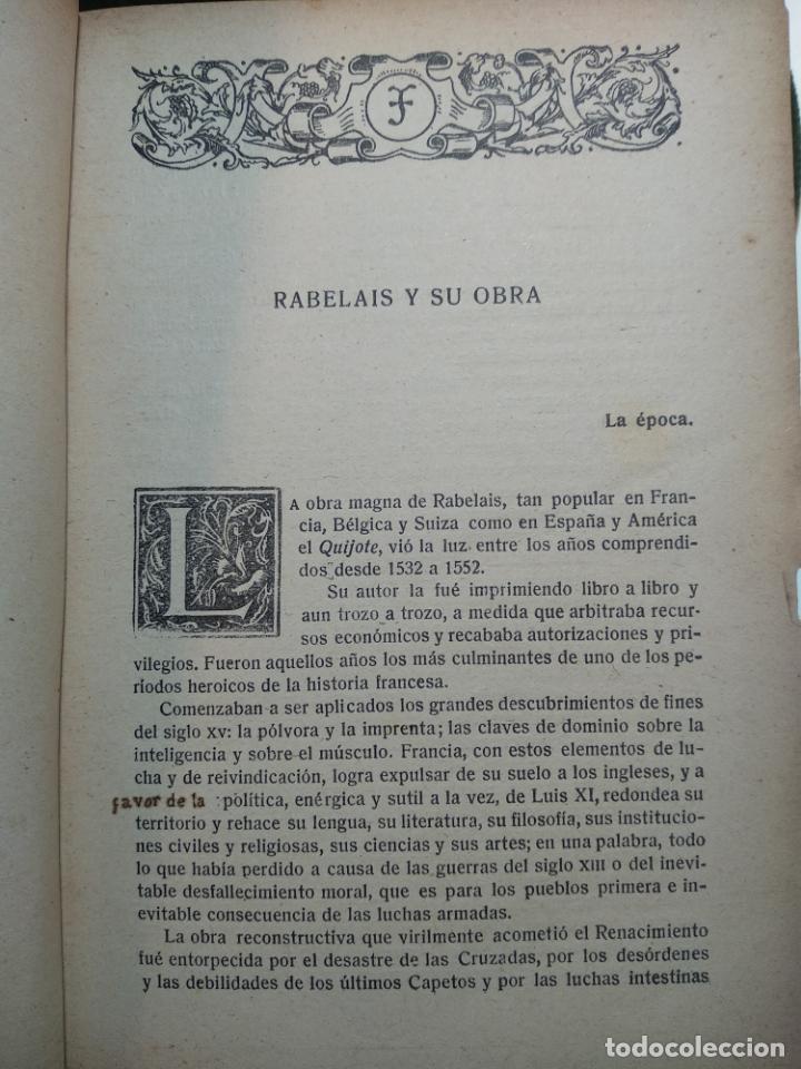 Libros antiguos: GARGANTÚA Y PANTAGRUEL - RABELAIS - TOMO I - M. AGUILAR EDITOR - MADRID - CIRCA 1937 - - Foto 4 - 137178846