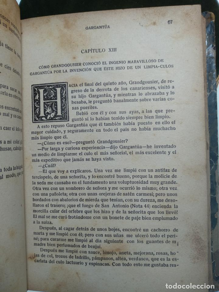 Libros antiguos: GARGANTÚA Y PANTAGRUEL - RABELAIS - TOMO I - M. AGUILAR EDITOR - MADRID - CIRCA 1937 - - Foto 5 - 137178846