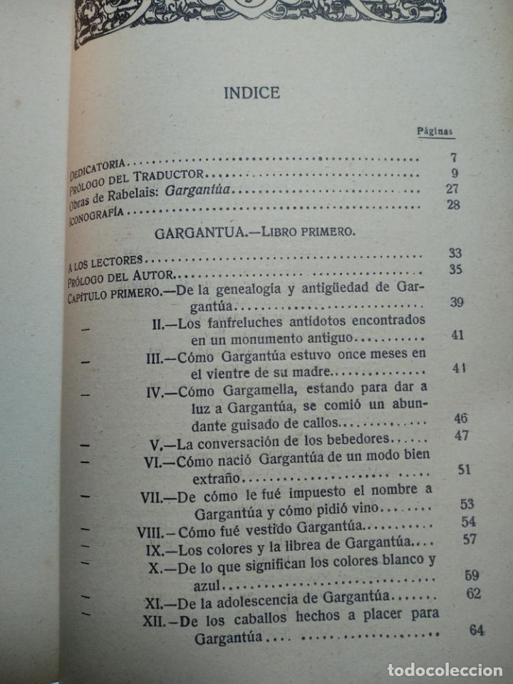 Libros antiguos: GARGANTÚA Y PANTAGRUEL - RABELAIS - TOMO I - M. AGUILAR EDITOR - MADRID - CIRCA 1937 - - Foto 6 - 137178846