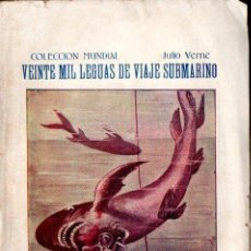 Libros antiguos: JULIO VERNE : VEINTE MIL LEGUAS DE VIAJE SUBMARINO (BAUZÁ, C. 1920). Lote 254148575
