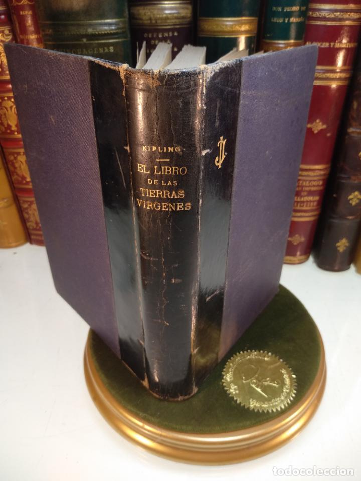EL LIBRO DE LAS TIERRAS VÍRGENES - RUDYARD KIPLING - EDICIÓN DEFINITIVA - GUSTAVO GILI - BCN - 1935- (Libros antiguos (hasta 1936), raros y curiosos - Literatura - Narrativa - Ciencia Ficción y Fantasía)
