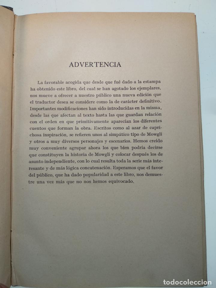 Libros antiguos: EL LIBRO DE LAS TIERRAS VÍRGENES - RUDYARD KIPLING - EDICIÓN DEFINITIVA - GUSTAVO GILI - BCN - 1935- - Foto 3 - 138686010