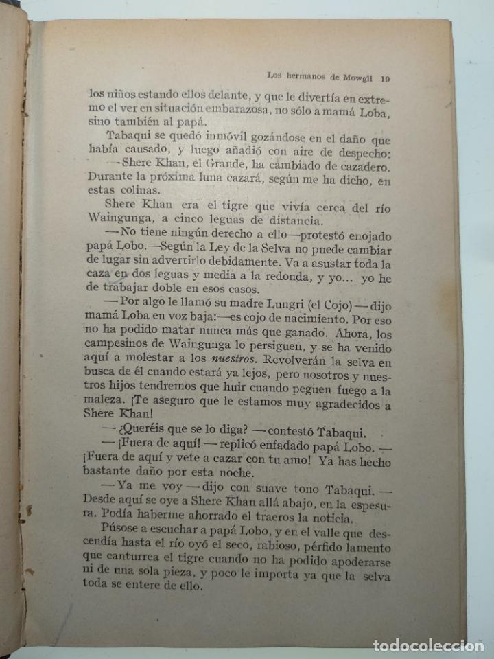 Libros antiguos: EL LIBRO DE LAS TIERRAS VÍRGENES - RUDYARD KIPLING - EDICIÓN DEFINITIVA - GUSTAVO GILI - BCN - 1935- - Foto 4 - 138686010