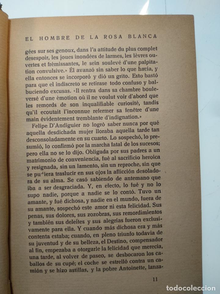 Libros antiguos: EL HOMBRE DE LA ROSA BLANCA - PEDRO MATA - HISTORIA TRISTE DE UNA NIÑA BIEN - EDIT. PUEYO - 1922 - M - Foto 4 - 138691554