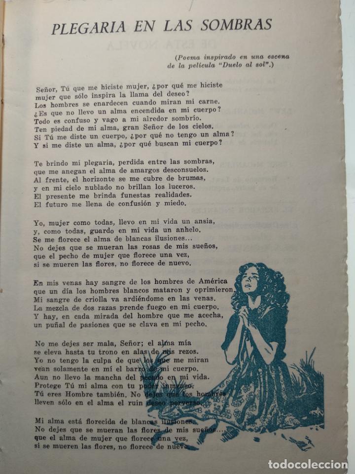 Libros antiguos: DUELO AL SOL - NIVEN BUSCH - EDITORIAL TESORO - MADRID - 1953 - - Foto 3 - 138692674