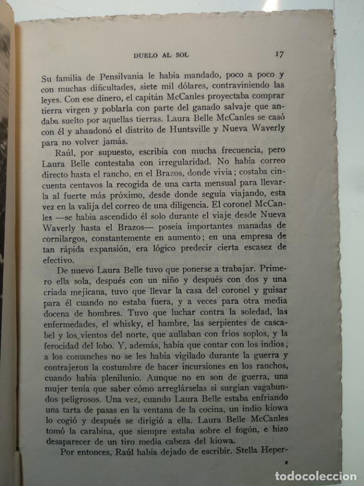 Libros antiguos: DUELO AL SOL - NIVEN BUSCH - EDITORIAL TESORO - MADRID - 1953 - - Foto 5 - 138692674