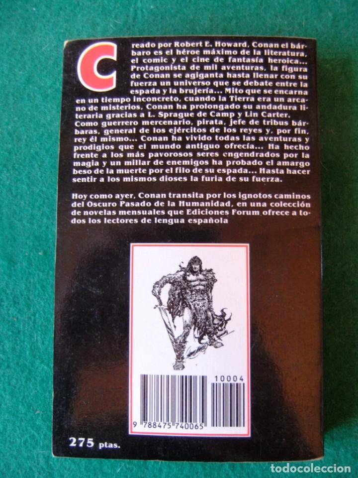 Libros antiguos: CONAN Nº 4 CONAN EL VAGABUNDO DE ROBERT E. HOWARD EDICIONES FORUM - Foto 2 - 139707950