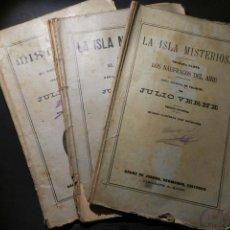 Libros antiguos: JULIO VERNE. LA ISLA MISTERIOSA, 3 CUADERNOS EDITORIAL SÁENZ DE JUBERA. Lote 143048744