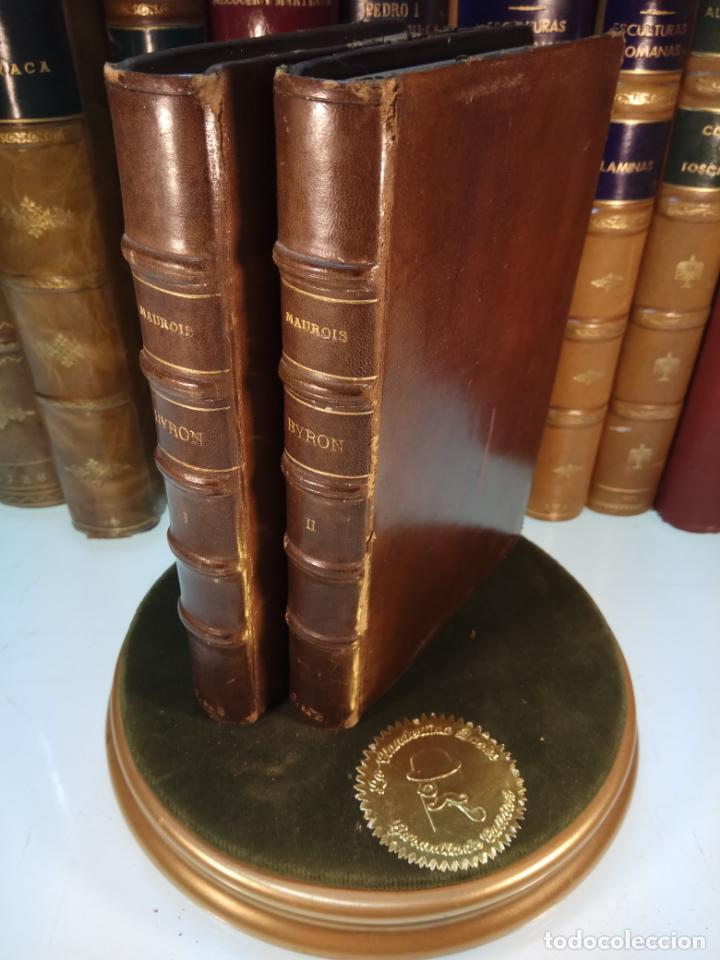BAYRON - ANDRÉ MAUROIS - 2 TOMOS - BERNARD GRASSET - PARÍS - 1930 - FRANCÉS - (Libros antiguos (hasta 1936), raros y curiosos - Literatura - Narrativa - Ciencia Ficción y Fantasía)