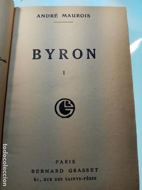 Libros antiguos: BAYRON - ANDRÉ MAUROIS - 2 TOMOS - BERNARD GRASSET - PARÍS - 1930 - FRANCÉS - - Foto 4 - 144057498