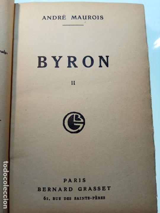 Libros antiguos: BAYRON - ANDRÉ MAUROIS - 2 TOMOS - BERNARD GRASSET - PARÍS - 1930 - FRANCÉS - - Foto 10 - 144057498