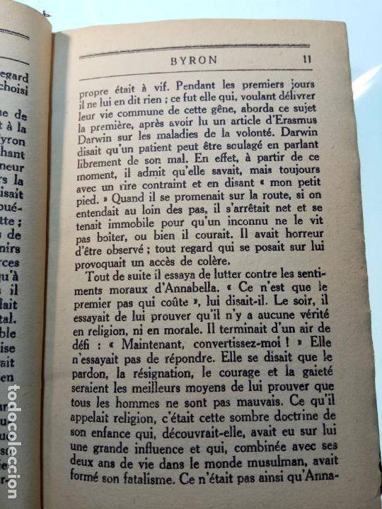 Libros antiguos: BAYRON - ANDRÉ MAUROIS - 2 TOMOS - BERNARD GRASSET - PARÍS - 1930 - FRANCÉS - - Foto 11 - 144057498