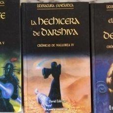 Libros antiguos: CRONICAS DE MALLOREA 3,4,5 EL SEÑOR DE LOS DEMONIOS,LA HECHICERA DE OARSHIVA, LA VIDENTE DE KELL. Lote 145233190