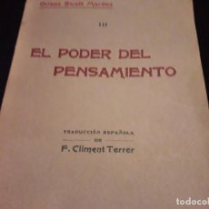 Libros antiguos: LIBRO EL PODER DEL PENSAMIENTO . Lote 148097210