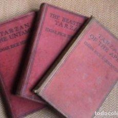 Libros antiguos: LOTE TRES NOVELAS DE TARZAN .TARZAN OF THE APES. TARZAN THE UNTAMED. THE BEASTS OF TARZAN.. Lote 149839910