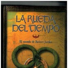 Libros antiguos: LA RUEDA DEL TIEMPO -EL MUNDO DE ROBERT JORDAN- ALTAYA.NUEVO.PRECINTO DE ORIGEN.TAPAS ACOLCHADA.. Lote 151661046