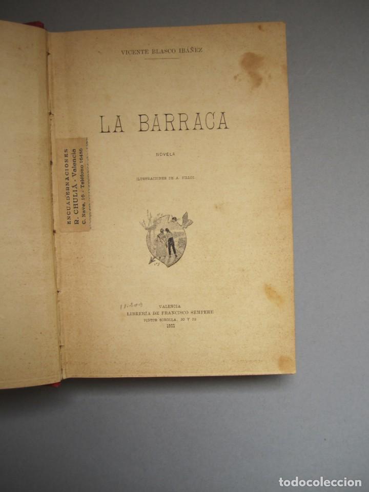 Libros antiguos: LA BARRACA .NOVELA .VICENTE BLASCO IBAÑEZ. F.SEMPERE - ILUSTRACIONES A.FILLOL .1901 1ª EDICIÓN - Foto 2 - 151708106
