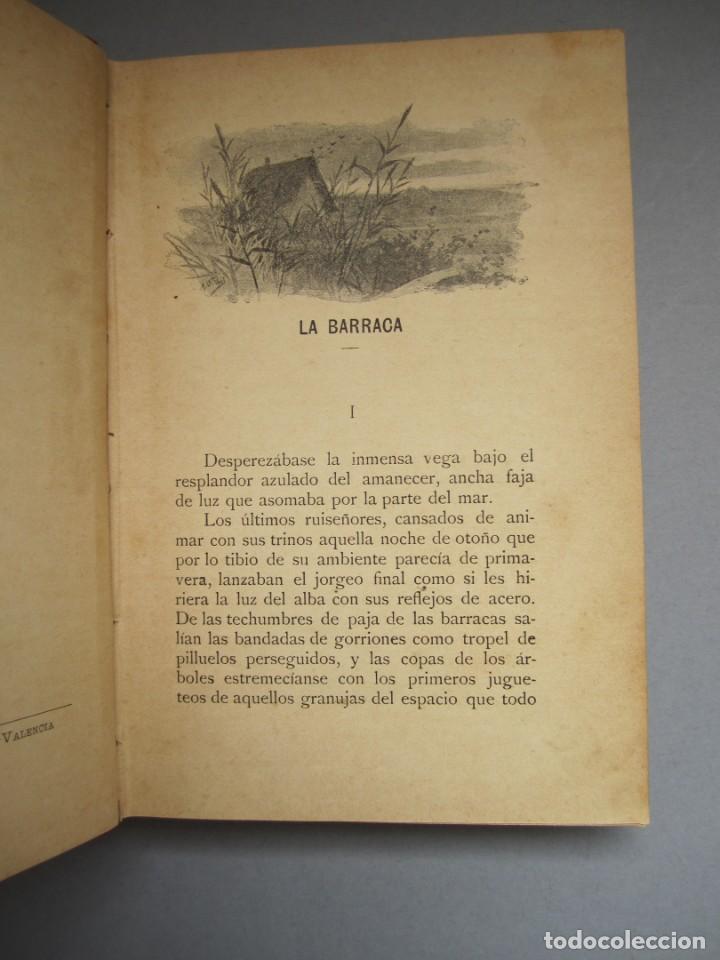 Libros antiguos: LA BARRACA .NOVELA .VICENTE BLASCO IBAÑEZ. F.SEMPERE - ILUSTRACIONES A.FILLOL .1901 1ª EDICIÓN - Foto 3 - 151708106
