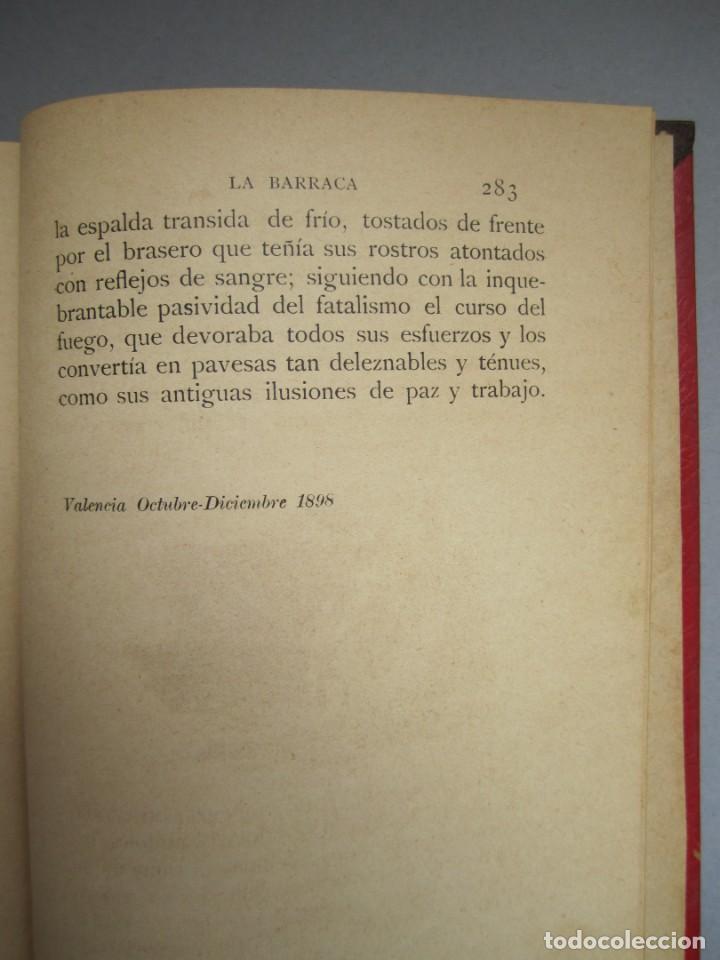 Libros antiguos: LA BARRACA .NOVELA .VICENTE BLASCO IBAÑEZ. F.SEMPERE - ILUSTRACIONES A.FILLOL .1901 1ª EDICIÓN - Foto 6 - 151708106