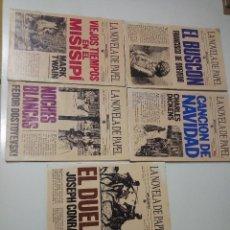 Libros antiguos: LA NOVELA DE PAPEL DE BRUGUERA 5 EJEMPLARES PRIMERA EDICION. Lote 151875950